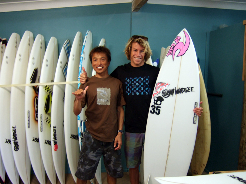 Mt Woodgee Surfboards ライダーNoah