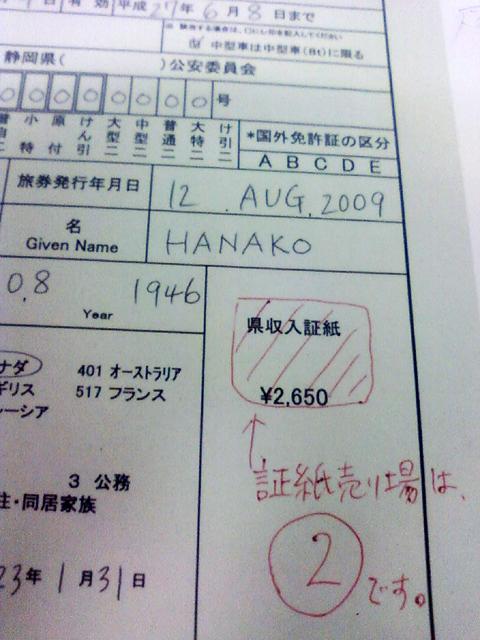 国際免許申請