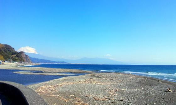 2012/11/14 10:00 興津川からの富士山の眺め