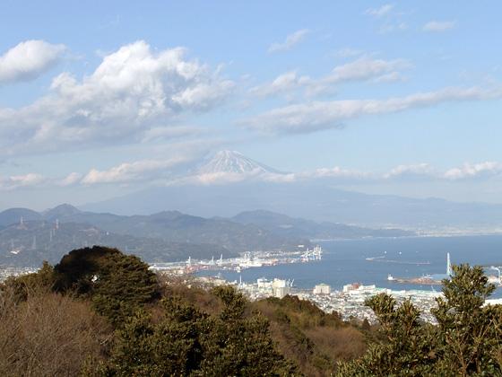 日本平からの富士山と清水港