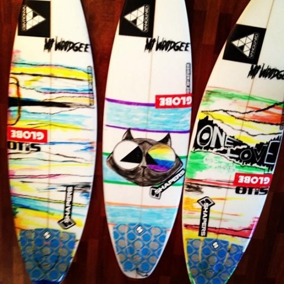 Mt Woodgee Surfboards ライダー Lincoln Taylor(リンコン・テイラー)使用ボード