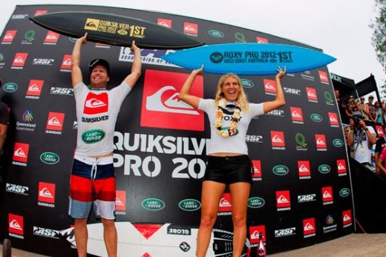 Taj & Stephanie WIN 2012 QUIKSILVER PRO GC