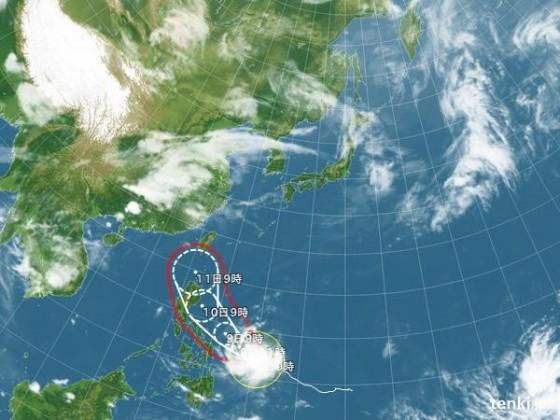 2015年05月08日09:00現在 台風6号